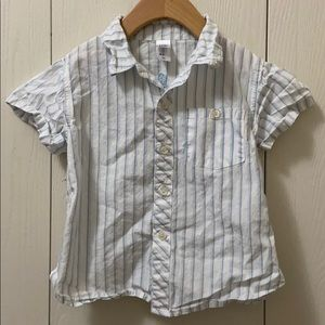 3/$20 Baby Club Short Sleeved Striped Dress Shirt